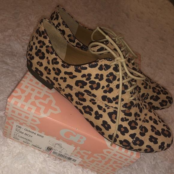 Gianni Bini Shoes   Oxford Cheetah